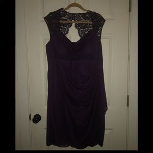 Lace Cap Sleeve Dress with Side Ruffles  *NWT*
